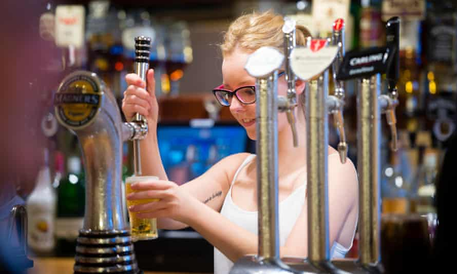 A nice little earner … students can be paid around £8 an hour in London as temporary bar staff.
