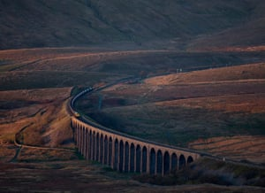 Freightliner Coal Train, Ribblehead Viaduct, North Yorkshire, by Robert France – winner of the Network Rail lines in the landscape category