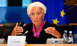 Christine Lagarde, testifying to the European Parliament's Committee on Economic Affairs