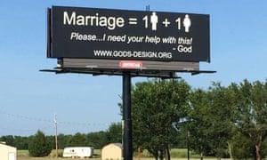 same sex gay marriage billboard odgaard