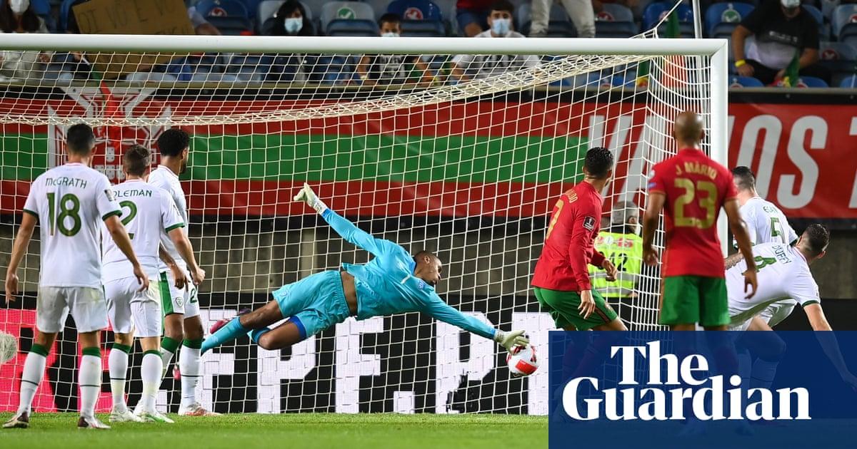 Record-breaker Cristiano Ronaldo's late goals for Portugal break Ireland's hearts
