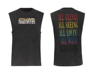 All Saints are donating £10 from the sale of every t-shirt or vest to The Kaleidoscope Trust, a charity that works to uphold the human rights of LGBTQ+ people internationally. Vest, £35, allsaints.com