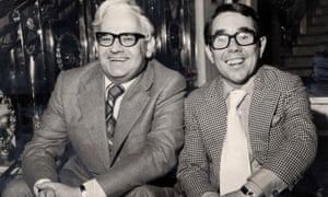 Corbett with his comedic partner, Ronnie Barker.