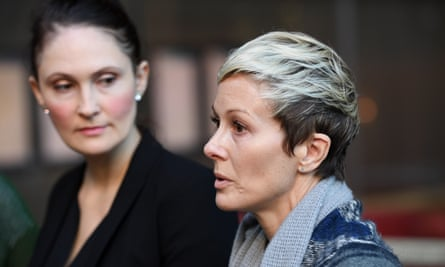 Joanne Maninon, right, is one of 700 women who have brought a class action against Johnson & Johnson over the company's vaginal mesh implants.