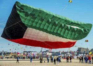 A Palestinian flag kite