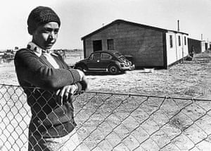 Winnie Mandela during her exile in Brandfort, South Africa in 1977