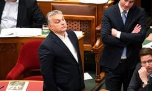 Viktor Orbán in parliament