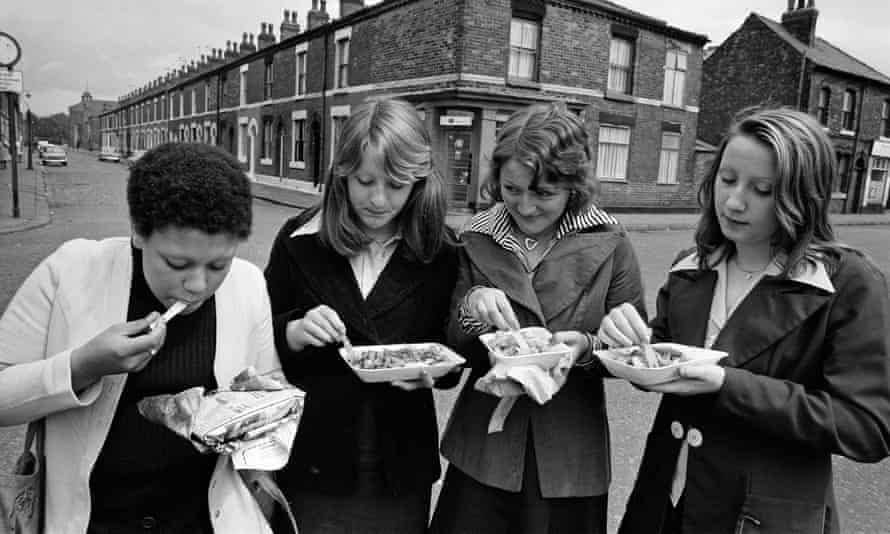A traditional Friday treat in Salford in 1974.