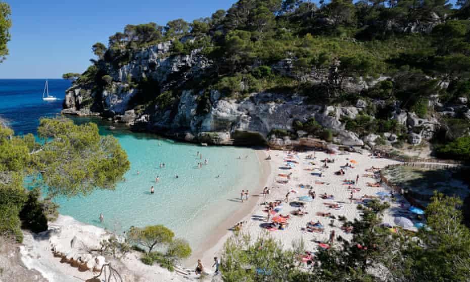 Cala Macarelleta, near Cala Galdana, Menorca, Balearic Islands, Spain.