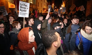 Protesters at Oxford University to demonstrate against Marine Le Pen talks