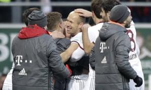 Bayern's Arjen Robben celebrates