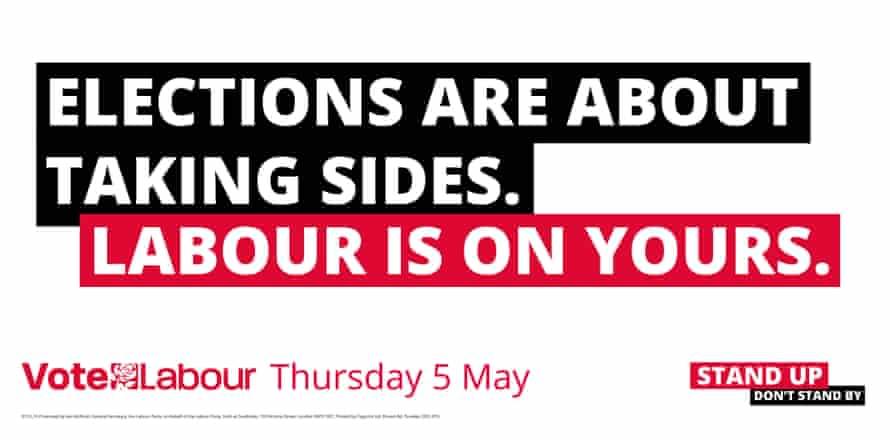 Labour campaign poster.