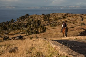 Amantani island in Lake Titicaca, Peru