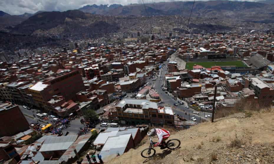 View of La Paz, Bolivia. World's highest capital city.