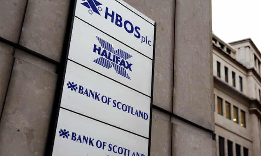 An HBOS office sign in the City of London