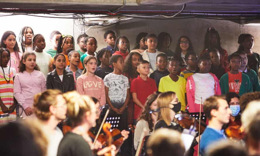 Our Future in Your Hands, performed by the Multi-Story Orchestra and the Multi-Story Choir at Bold Tendencies, London