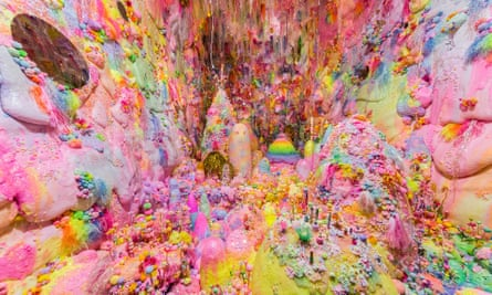 Darkness will Disappear, Magic Light gonna take you for a Ride by Tanya Schultz (Pip & Pop) is a sumptuous candy cave showing at Divided Worlds: the 2018 Adelaide Biennial of Australian Art.