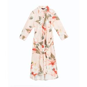 Printed knee length dress, £39.99, zara.com.