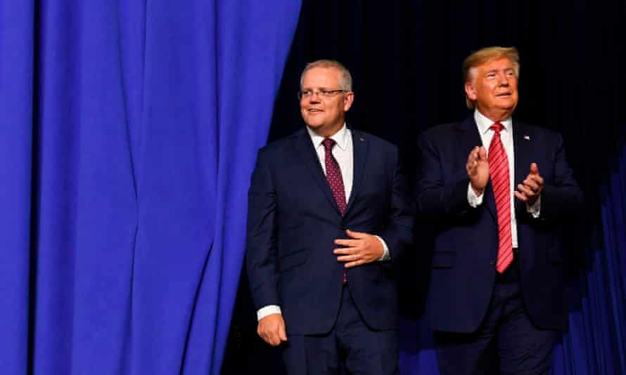Prime minister Scott Morrison with US president Donald Trump in Ohio last week. The latest Guardian Essential poll shows most Australians believe it is important for the PM to have a good relationship with the US president, 'whoever they might be'.