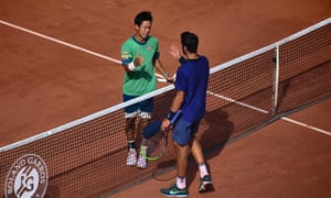 Khachanov congratulates Nishikori