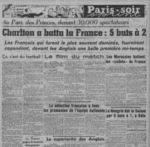 How Paris-soir reported on Charlton's win.