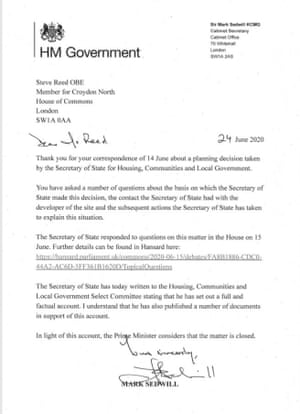 Mark Sedwill's letter to Labour's Steve Reed