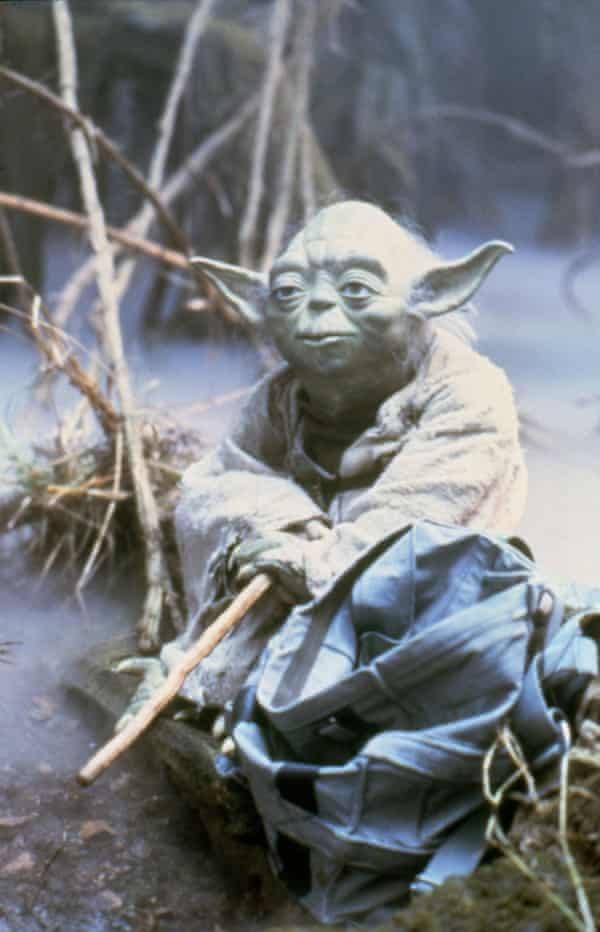 Yoda as seen on the set of The Empire Strikes Back.