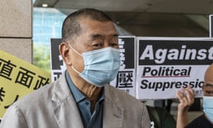 Jimmy Lai arrives at the West Kowloon magistrates court, 18 September.