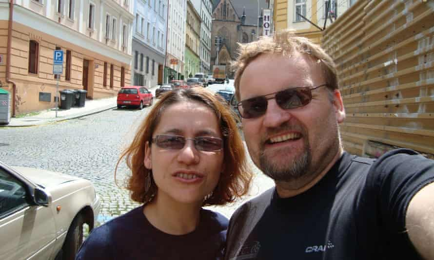 The couple in Prague in 2009