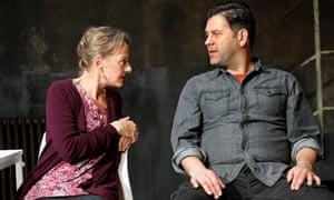 Plotting the endgame … Niamh Cusack and Patrick Baladi in Christmas Eve at the Ustinov studio, Bath.