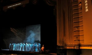 A rehearsal of the opera, which is likely to provoke strong reactions in America and China.