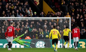 David De Gea Gaffe Sets Watford On Path To Shock Win Over Manchester United Football The Guardian