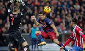 A case can be made for describing Luis Suárez as the best player in Europe so far this season, the first player in Spain to reach double figures for goals and assists.