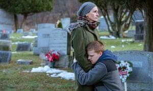 Julia Roberts and Lucas Hedges in Ben Is Back (2018) film still