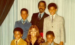 Craig Raymond Turner, standing right, with the rest of the Turner family. Clockwise from bottom left: Michael, Ike Jr. (both sons of Ike and Lorraine Taylor), Ike, Craig Raymond, Ronnie and Tina.