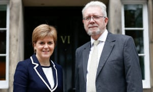 Scotland's minister for Brexit, Michael Russell, pictured with first minister Nicola Sturgeon.