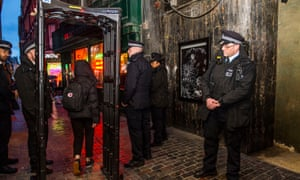 A metal detector is deployed in London's West End