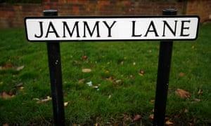 Jammy Lane street sign