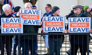 Pro-Brexit supporters demonstrate in London this month.