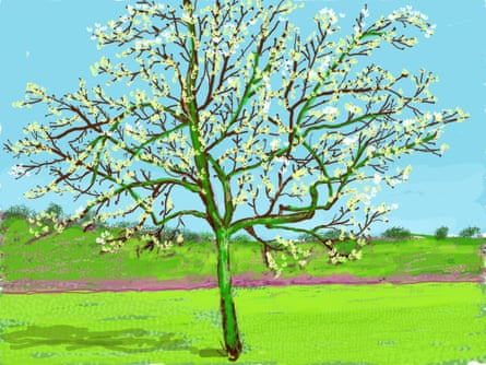 Painting 0146 by David Hockney, exclusive to the Guardian.