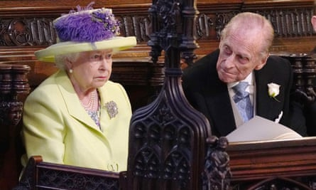 The Queen and Prince Philip at the wedding: the monarchy has been remarkably successful at surviving in a democratic age.