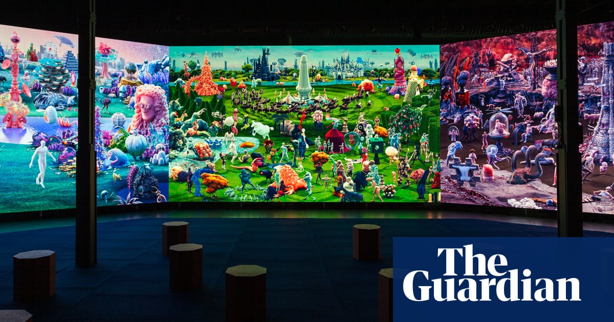 Madrid exhibition reimagines Bosch's Garden of Earthly Delights for digital age