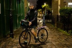 Adam, bike messenger and photographer