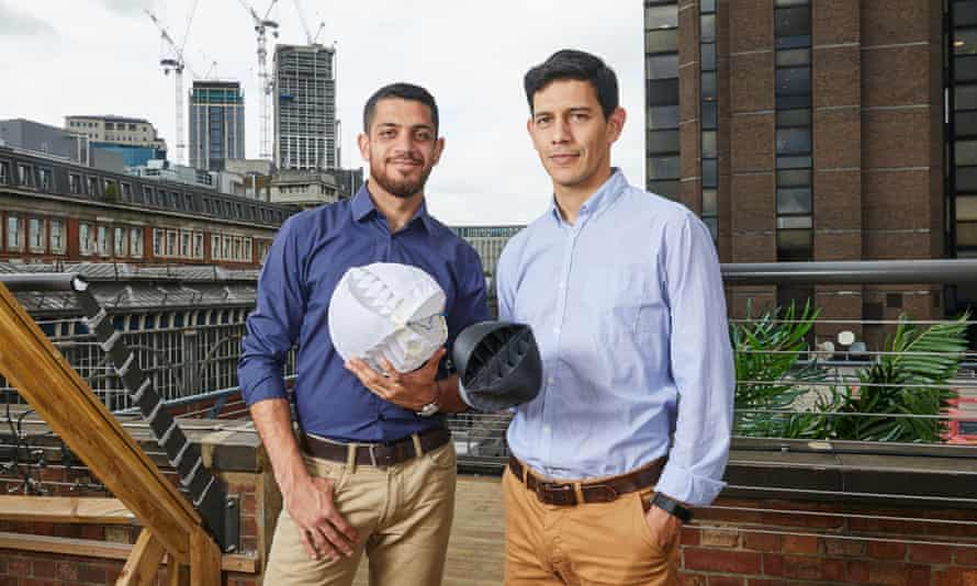 Designers of the O-Wind Turbine, Nicolas Orellana and Yaseen Noorani