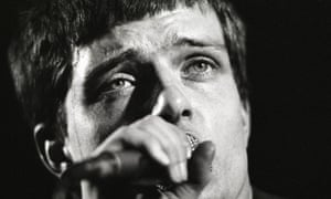 Ian Curtis on stage in Rotterdam, January 1980