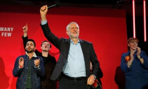 The Labour leader, Jeremy Corbyn, campaigning in Birmingham on Thursday.