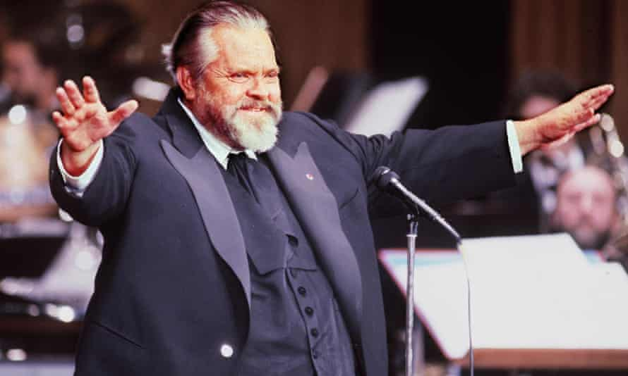 Orson Welles in Paris in 1982. His personal manuscripts for Citizen Kane are up for auction.