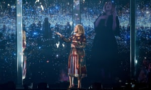 Adele performing at the 2016 Brit awards.