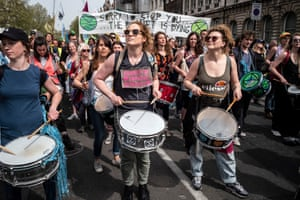 Demonstraters march down Whitehall to Parliament Square on Tuesday