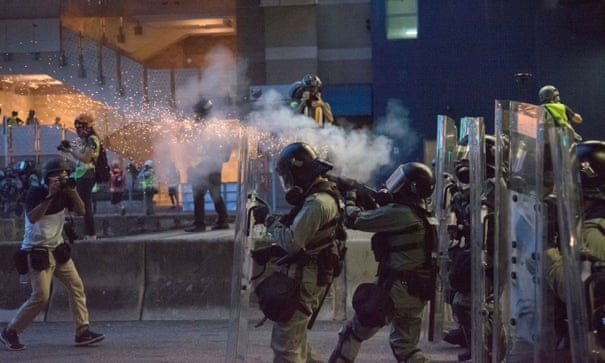 Police in Hong Kong are brutally repressing democracy – and Britain is arming them
